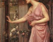 John William Waterhouse : Psyche Entering Cupid's Garden